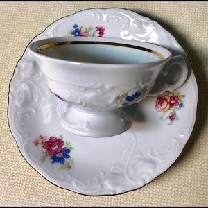 Wawel Poland Porcelain Cup & Saucer Espresso Size